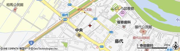 茨城県取手市藤代周辺の地図