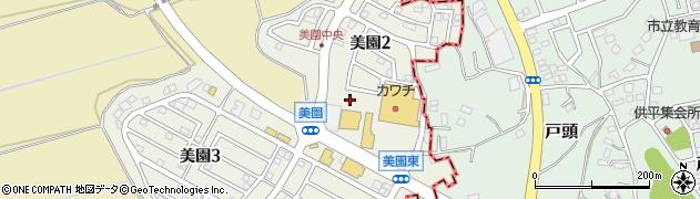 茨城県守谷市美園周辺の地図