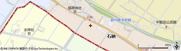 茨城県稲敷市石納周辺の地図