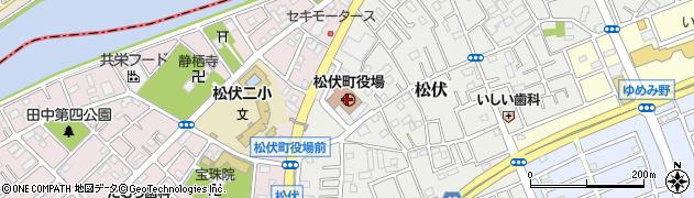埼玉県北葛飾郡松伏町周辺の地図
