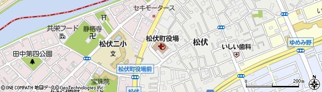 埼玉県松伏町(北葛飾郡)周辺の地図