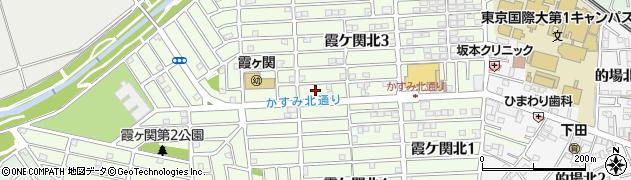 埼玉県川越市霞ケ関北周辺の地図