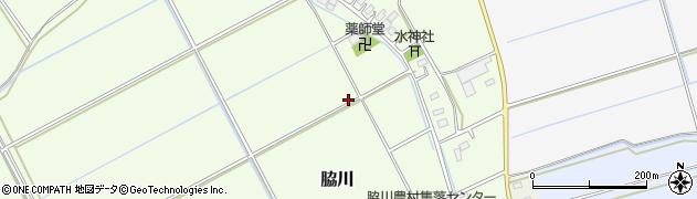 茨城県稲敷市脇川周辺の地図