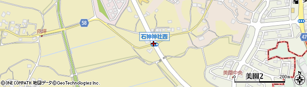 石神神社西周辺の地図
