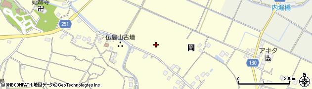 茨城県取手市岡周辺の地図