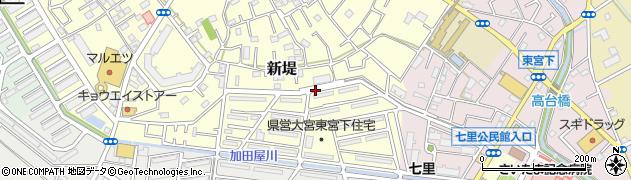 埼玉県さいたま市見沼区新堤周辺の地図