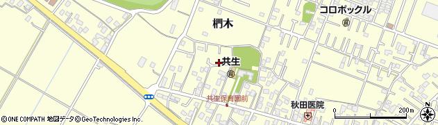 茨城県取手市椚木周辺の地図