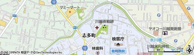 埼玉県川越市志多町周辺の地図