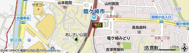 茨城県龍ケ崎市周辺の地図