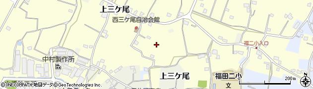 千葉県野田市西三ケ尾周辺の地図