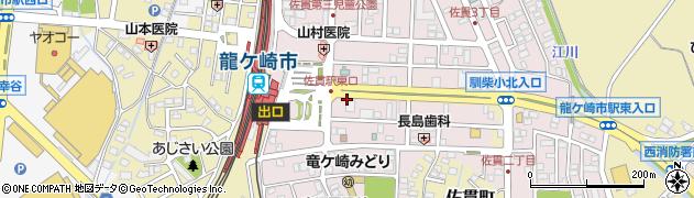 茨進ゼミナール 佐貫駅前校周辺の地図
