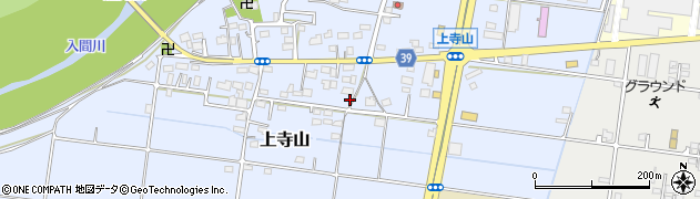 埼玉県川越市上寺山周辺の地図
