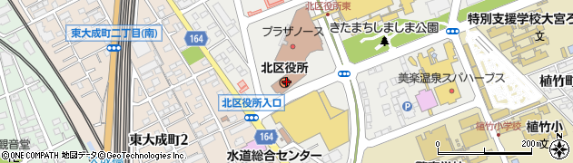 埼玉県さいたま市北区周辺の地図
