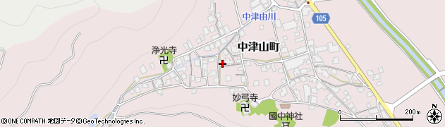 福井県越前市中津山町周辺の地図