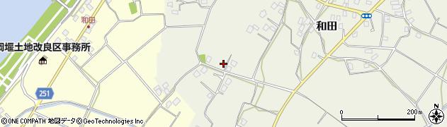 茨城県取手市和田周辺の地図