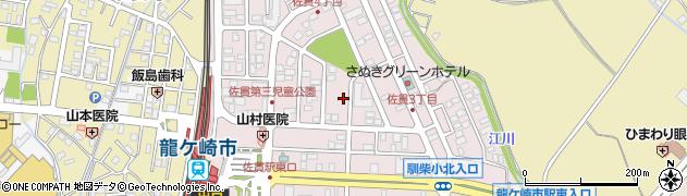 茨城県龍ケ崎市佐貫周辺の地図