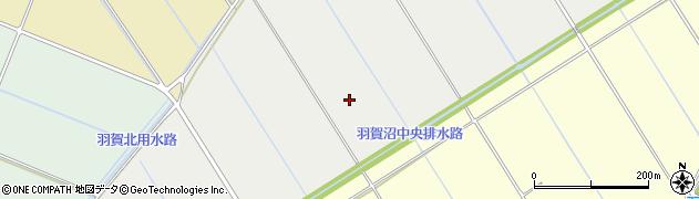 茨城県稲敷市羽賀沼周辺の地図