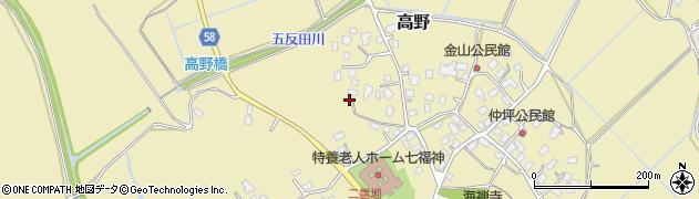 茨城県守谷市高野周辺の地図