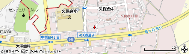 茨城県龍ケ崎市久保台周辺の地図
