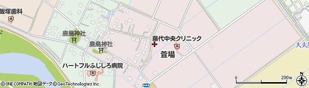 茨城県取手市萱場周辺の地図