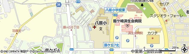 茨城県龍ケ崎市藤ケ丘周辺の地図