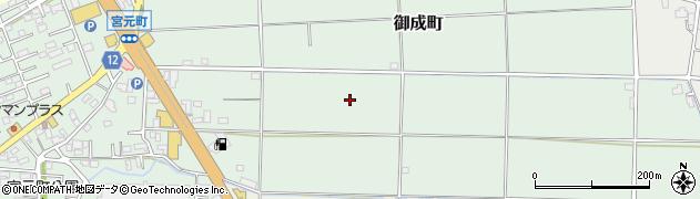 埼玉県川越市御成町周辺の地図
