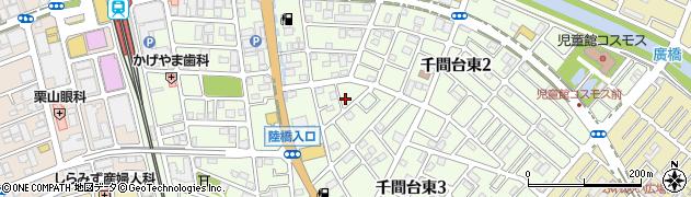 埼玉県越谷市千間台東周辺の地図
