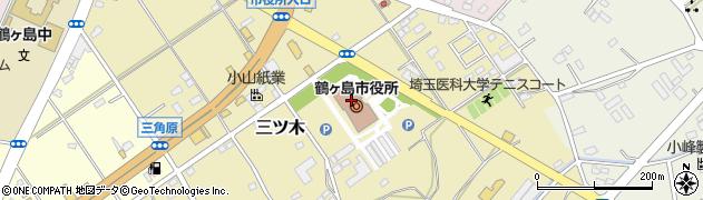 埼玉県鶴ヶ島市周辺の地図
