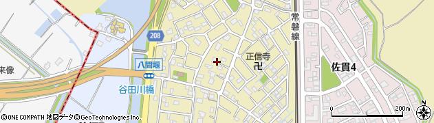 茨城県龍ケ崎市佐貫町周辺の地図