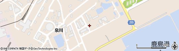 茨城県鹿嶋市泉川周辺の地図