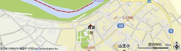 茨城県取手市山王周辺の地図