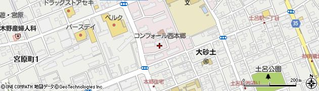 コンフォール西本郷周辺の地図