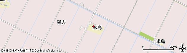 茨城県潮来市米島周辺の地図