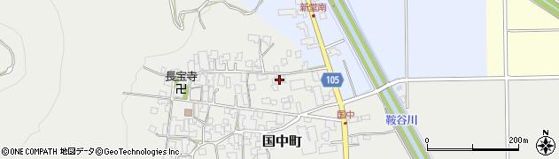 福井県越前市仲山周辺の地図