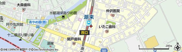 茨城県潮来市あやめ周辺の地図