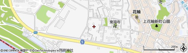 千葉県野田市上花輪周辺の地図