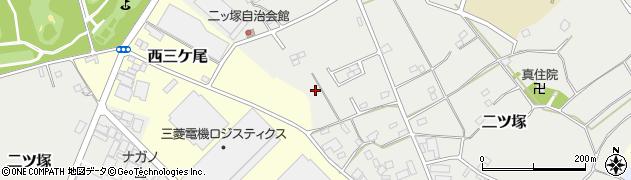 千葉県野田市二ツ塚周辺の地図
