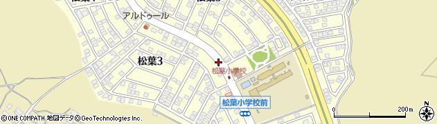 茨城県龍ケ崎市松葉周辺の地図