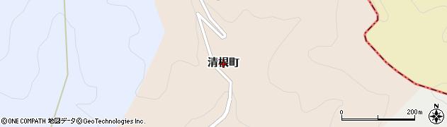 福井県越前市清根町周辺の地図
