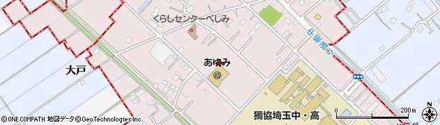 埼玉県越谷市恩間新田周辺の地図
