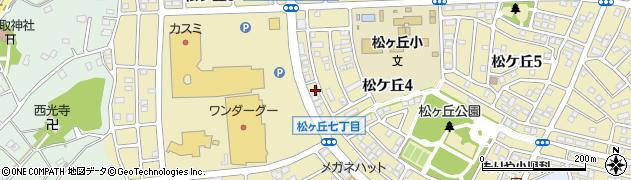 茨城県守谷市松ケ丘周辺の地図