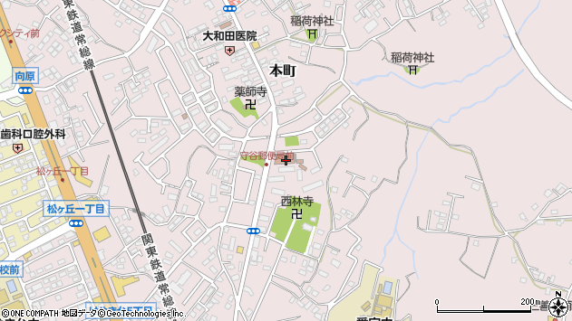 〒302-0109 茨城県守谷市本町の地図