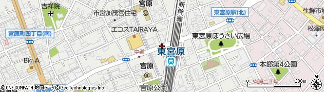 東宮原駅前周辺の地図