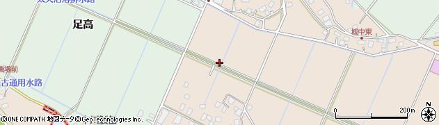 茨城県つくばみらい市城中周辺の地図