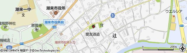 硯宮神社周辺の地図