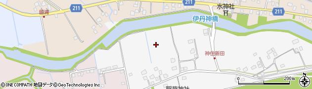 茨城県つくばみらい市神住新田周辺の地図