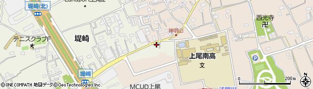 埼玉県上尾市堤崎16周辺の地図