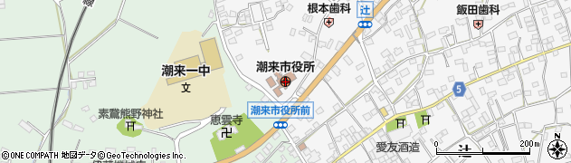 茨城県潮来市周辺の地図