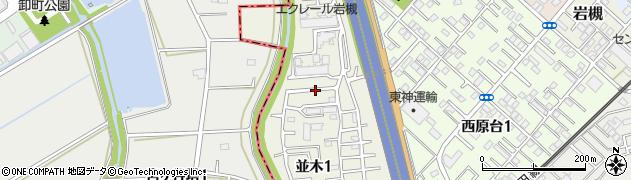埼玉県さいたま市岩槻区並木周辺の地図