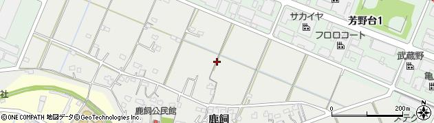 埼玉県川越市鹿飼周辺の地図